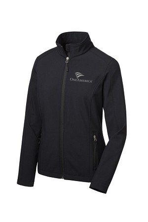 Ladies Core Soft Shell Black Jacket