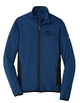Men's Full-Zip Heather Stretch Fleece Jacket