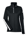 Under Armour Ladies' Qualifier 1/4 Zip-One America all White Logo